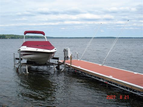 j dock boats boat lifts made in lakefield ontario r j machine