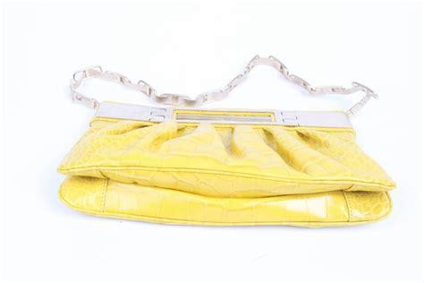 Sale Fashion Boneka Croco Yr9932 versace leather clutch croco print yellow 2008 for sale at 1stdibs