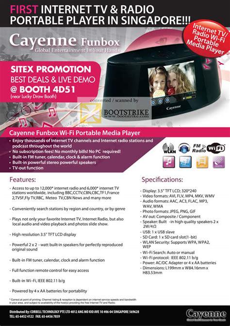 Casing Msi Cx 420 corbell cayenne funbox tv radio portable media player sitex 2010 price list brochure