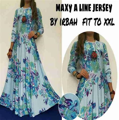 Baju Terusan Wanita Muslim Longdress Playdotty Maxy jual baju muslim maxy a line jerser by irbah fit to harga murah depok oleh kharisma chemindo1