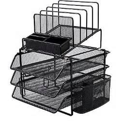 Black Wire Mesh Desk Organizer All In One Black Wire Mesh Desk Organizer Deskcontainers