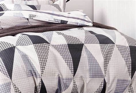 Black And White Quilt Cover Australia by King Size 100 Cotton Quilt Cover Set 3pcs Neo In Black