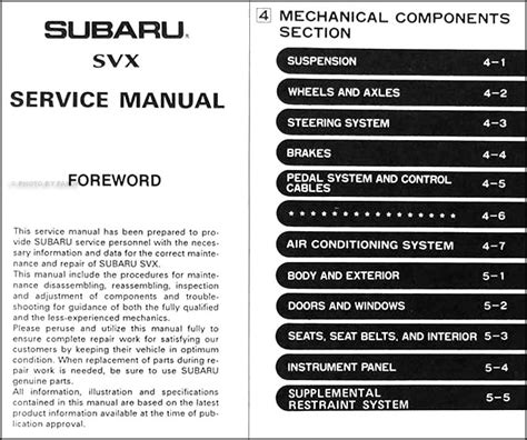 service manual buy car manuals 1992 subaru alcyone svx spare parts catalogs 1995 subaru service manual 1992 subaru svx service manual free printable 1992 subaru svx service repair