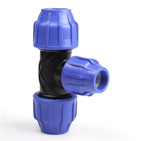 plastic tee section reducing tee mdpe pipe fittings compression pipestock