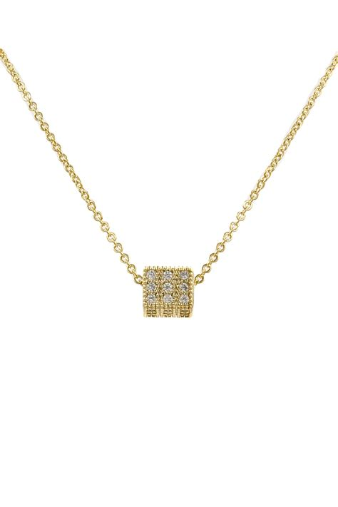 Rhinestone Pendant Necklace brass rhinestone cube pendant necklace necklaces