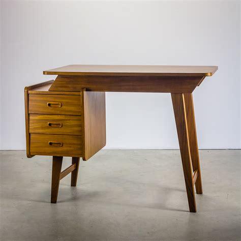 bureau vintage jaren 60 teak bureau desk barbmama