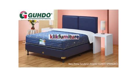 Guhdo New Prima 15 Cm 160 X 200 Mattress Only Biru new prima atlantic style guhdo bed harga termurah