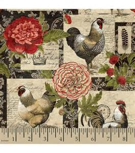legacy studio quilt fabric floral patch rooster at