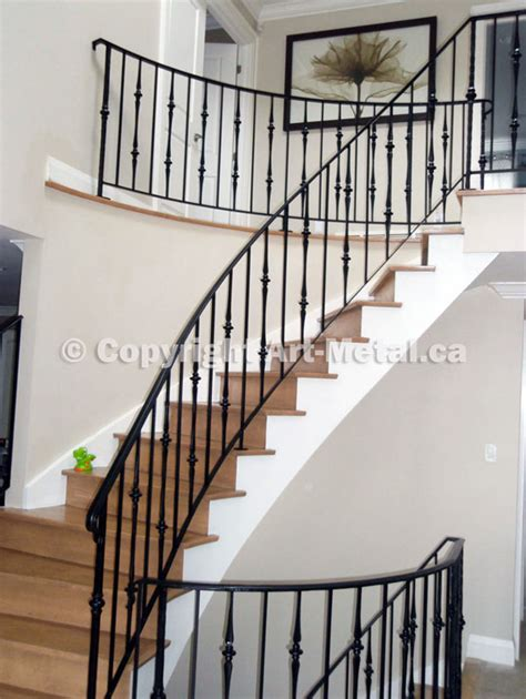 interior indoor stair iron railings handrails designs