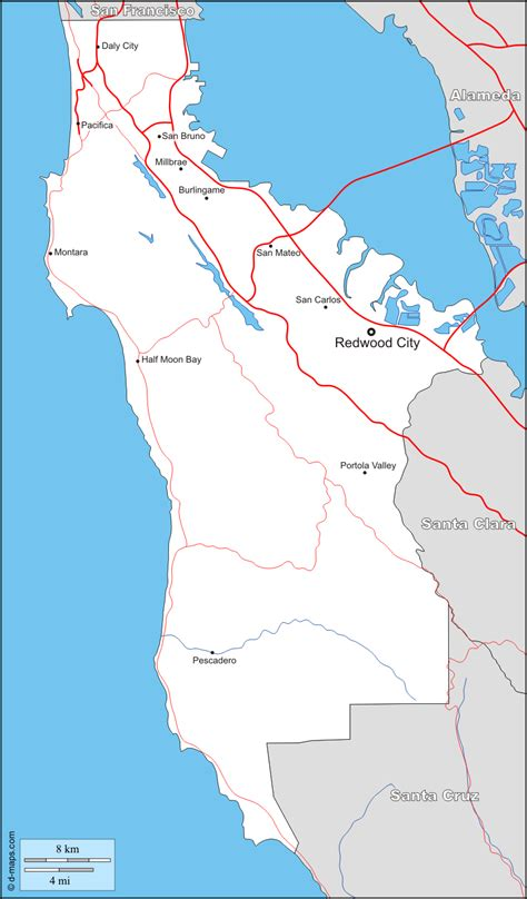 San Mateo County Search San Mateo County Boundaries Images