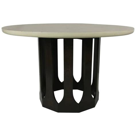 Travertine Top Dining Table Mahogany Dining Table With Travertine Top By Harvey Probber For Sale At 1stdibs