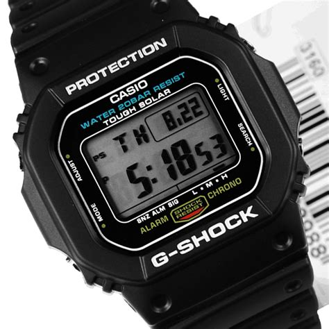 Casio Solar by G 5600e 1 Casio G Shock Tough Solar Mens G5600e