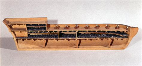 cross section of a model of a ship school