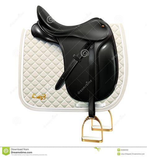 Saddle Whyte Black dressage saddle stock photography image 30282032