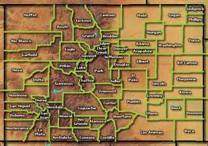 map of colorado counties with cities colorado counties colorado towns and places