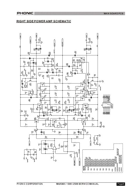 Phonic Max1500 Plus Power Lifier phonic max860 1500 2500 right side power sch service manual schematics eeprom