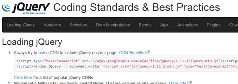 jquery design guidelines 20 more docs and guides for front end developers sitepoint