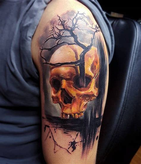 tattoo gallery picture skull 99 gnarly skull tattoos that will make you gawk