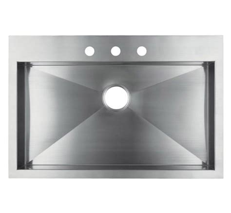 """36"""" Stainless Steel Top Mount Kitchen Sink   Single Bowl"""