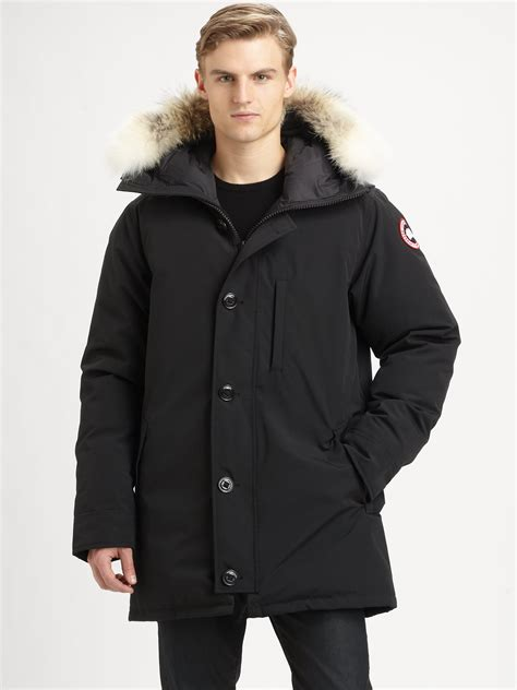 Parka Black 1 canada goose chateau parka in black for lyst