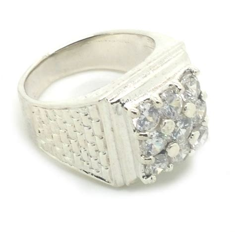 sterling silver s style 9 cz cubic zirconia ring