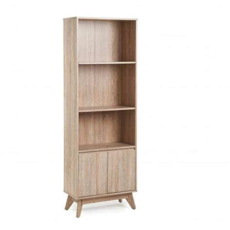 Bookcase With 2 Low Doors In 3d Oak Porbc Low Bookcase With Doors