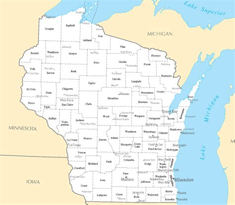 Wisconsin Search Blank Map Of Wisconsin Counties Images