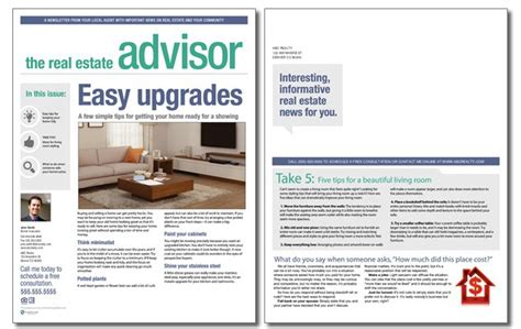 real estate advisor newsletter template volume 3 issue 12