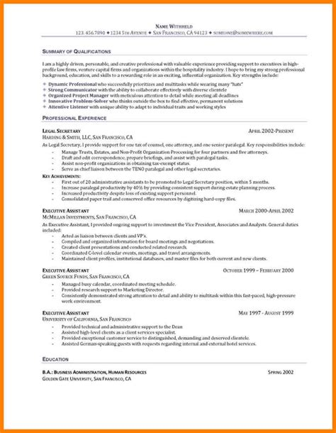 resume entry level objective exles 7 entry level resume objective exle precis format