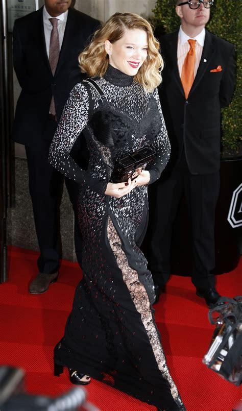 lea seydoux new york lea seydoux at 2017 met gala in new york 05 01 2017