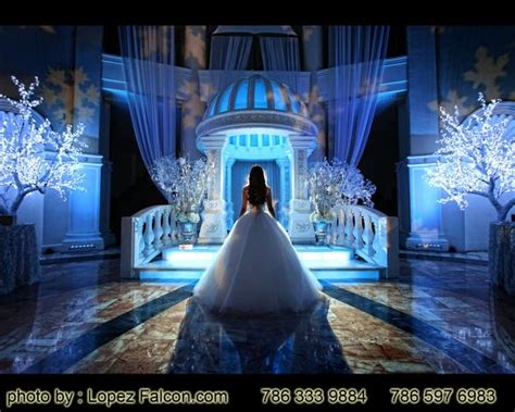 quinceanera themes miami stage winter wonderland stage quinceanera miami sweet 15