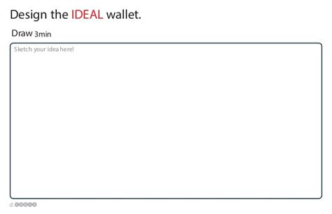 Design Thinking Wallet | design thinking wallet worksheets