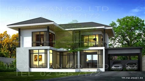 modern style home plans modern house plans 2 story