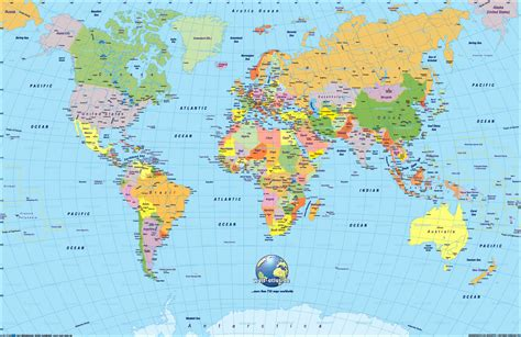 global map with country name world map mappery