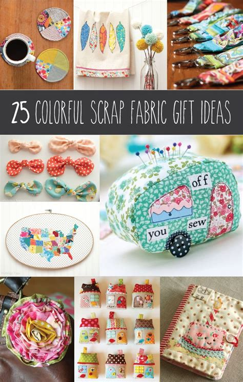 fabric crafts gifts do you a ton of scraps 25 colorful scrap fabric gift
