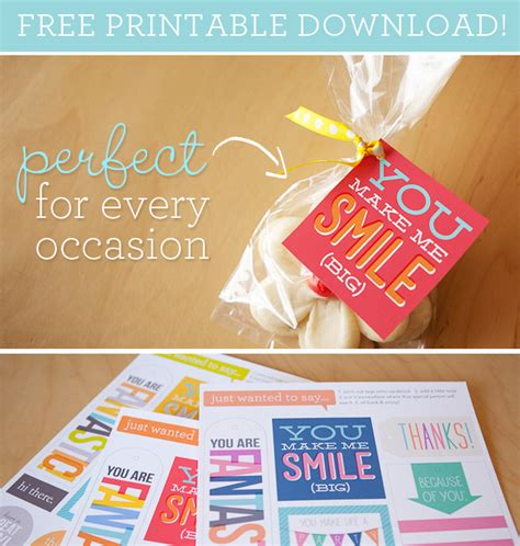 Free Printable Gift Tags For All Occasions | free printable positive tags for any occasion fab n free