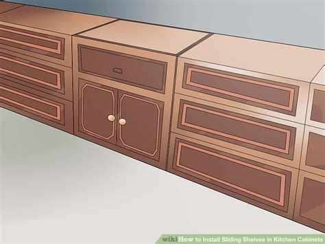 kitchen cabinet sliding racks how to install sliding shelves in kitchen cabinets with