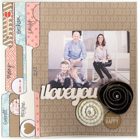 Tab Dispensers For Your Scrapbook Layouts by Layout I You By Scrapbook I Do Believe