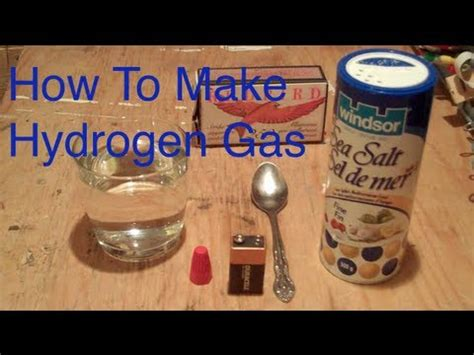 how to make hydrogen gas using a 9v battery easy