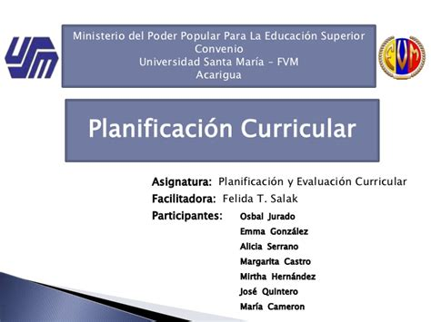 planificacion curricular 2016 slideshare planificacion curricular final