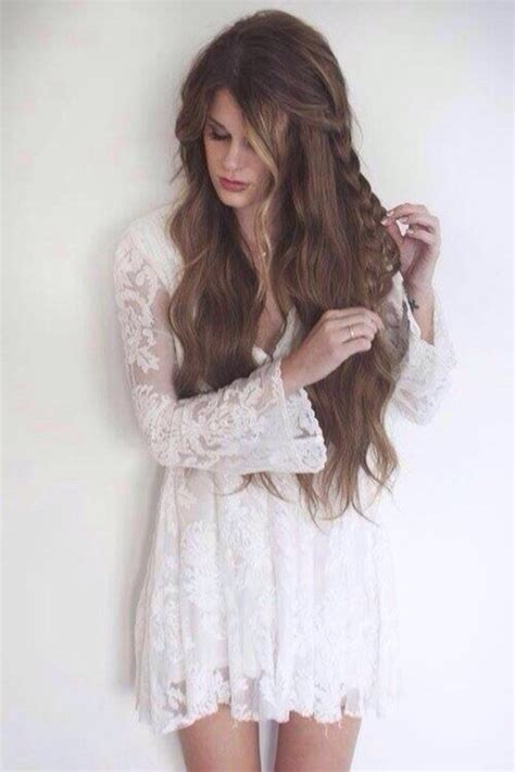 boho lace tieback bohemian chic hairstyles youtube free people reign over me lace dress