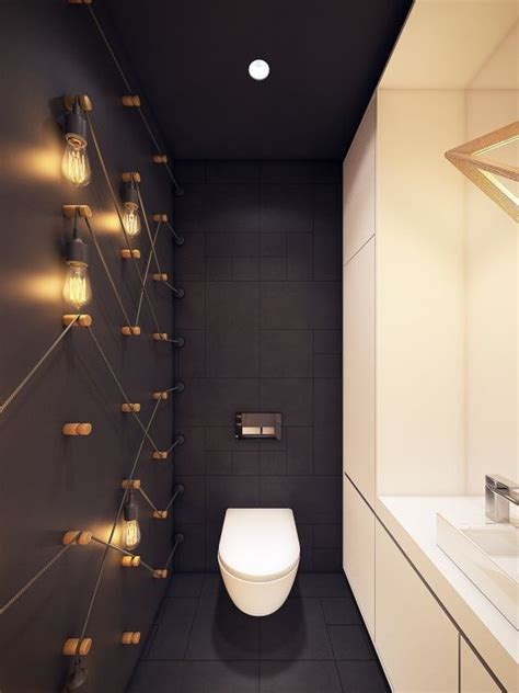 matte black walls 3 tips and 27 ideas to design a cool powder room digsdigs