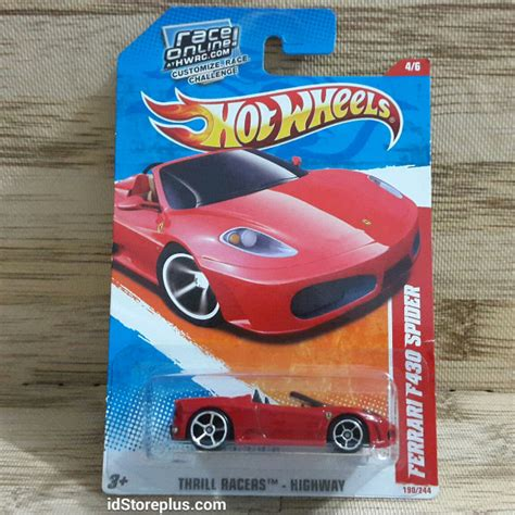 Hotwheels Thrill Racers wheels 2011 f430 spider thrill racers by