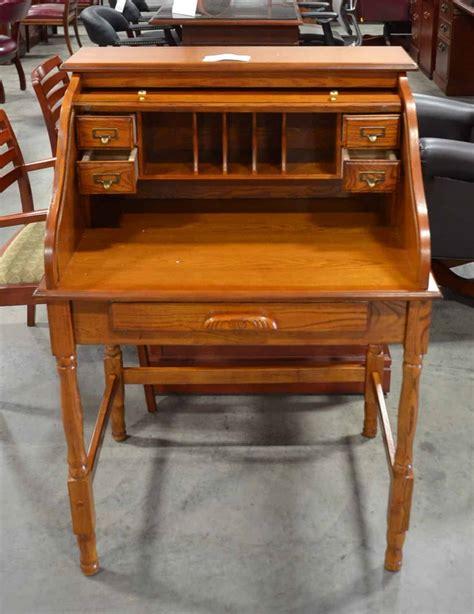 oak roll top desk used palmetto small roll top secretary desk office barn