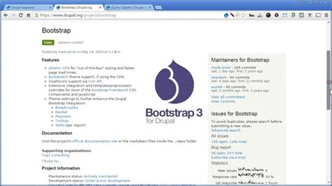 bootstrap templates for drupal 7 drupal 7 bootstrap theme 3 x part 1 installation