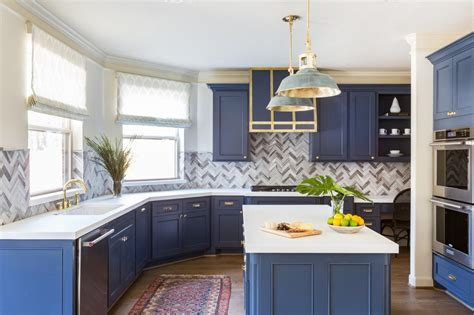 blue color kitchen cabinets 10 blue tiful kitchen cabinet color ideas hgtv