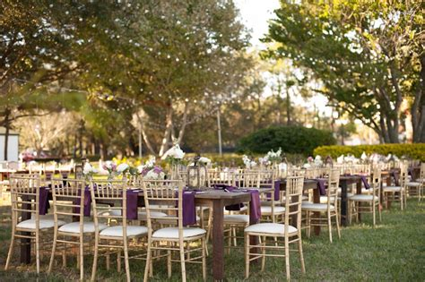 Davis Island Garden Club by Purple Ivory And Chagne Vintage Glam Wedding Davis
