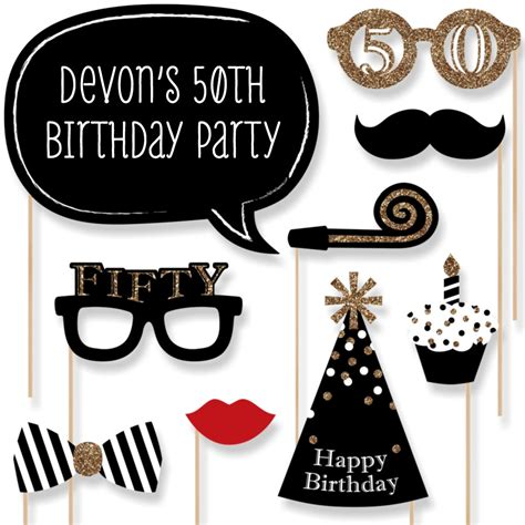free printable photo booth props 50th birthday 50th birthday gold party photo booth props adult birthday