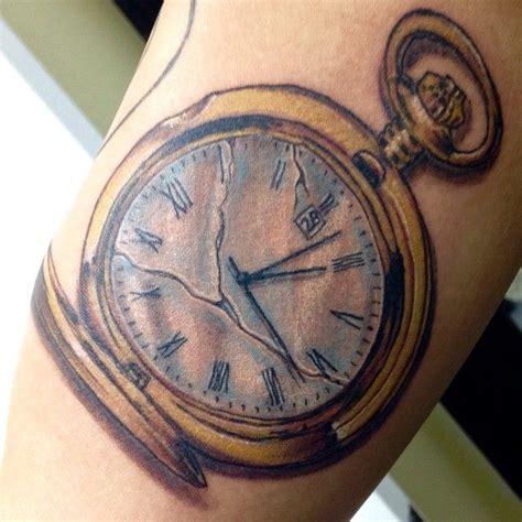 broken pocket watch tattoo broken pocket revfish fishinktattoos