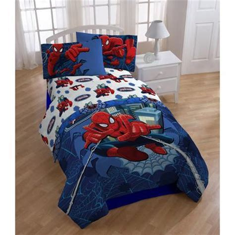 spiderman comforter sets childrens kids toddlers twin size bedding comforter
